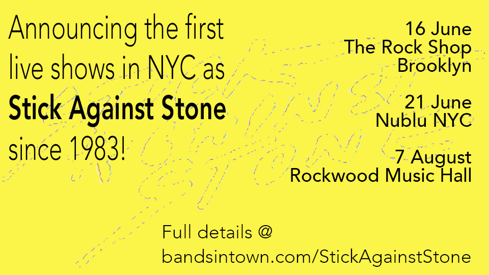 Stick Against Stone - Live in NYC